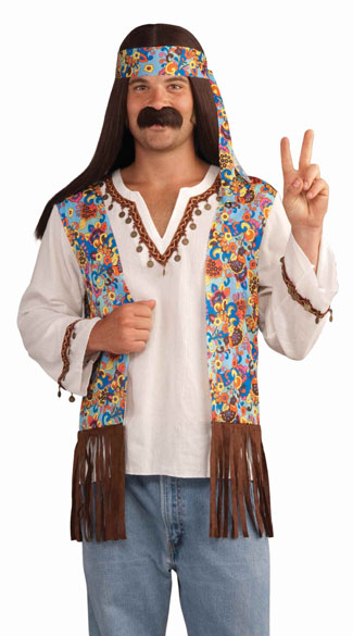 Men\'s Groovy Hippie Costume, Men\'s 60s Costume, Men\'s Hippie Costume