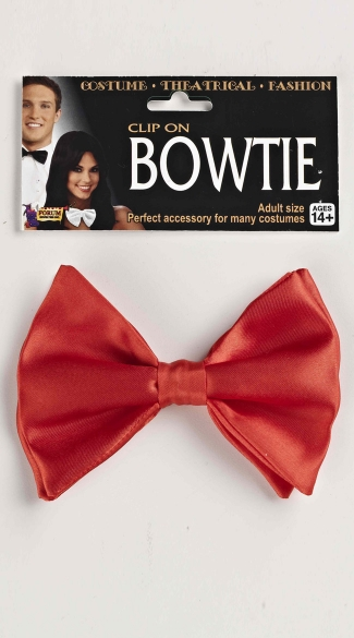 Red Clip On Bow Tie - Red