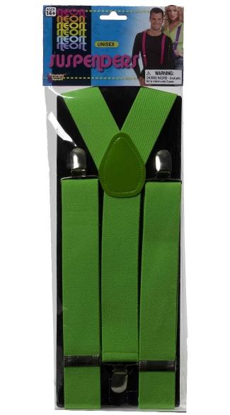 Neon Green Suspenders - Green