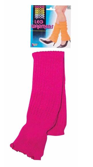Neon Pink Leg Warmers - Pink