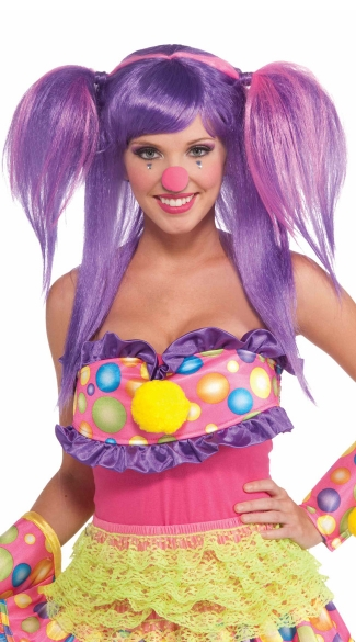 Circus Sweetberry Bubbles Wig - Purple