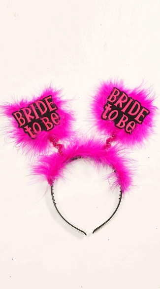 Bride To Be Headband - Black/Pink