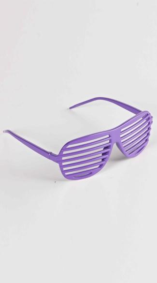 Neon Purple Slotted Glasses - Neon Purple