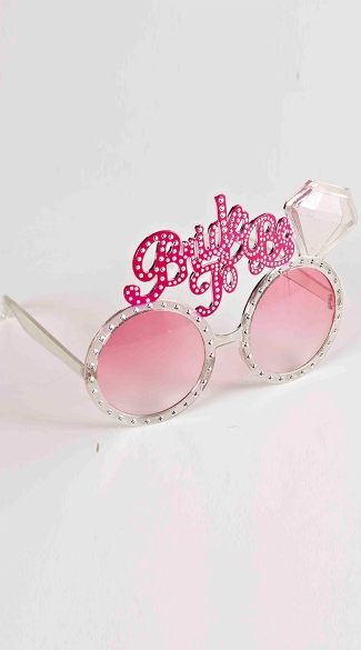 Rhinestone Studded Bride To Be Glasses with Diamond, Bachelorette Party Favors, Bridal Shower Toys
