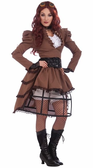 Vicky Costume, Steampunk Halloween Costume, Sexy Steampunk Dress