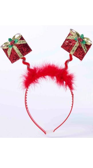 Holiday Presents Headband - Red