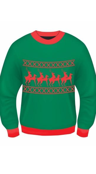Reindeer Games Sweater - Green