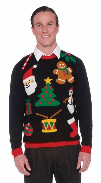 Everything Christmas Sweater - Black