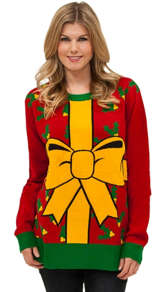 All Wrapped Up Sweater - Red/Yellow