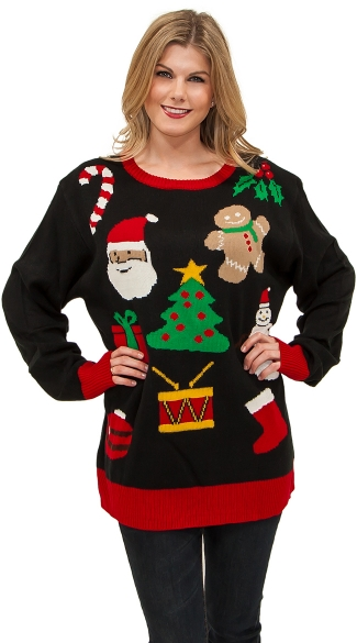 Plus Size Everything Christmas Sweater, Ugly Christmas Sweater, Mens Christmas Sweater, Funny Christmas Sweater