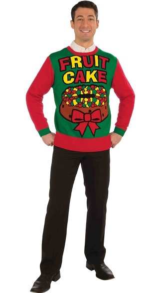 Plus Size Fruit Cake Ugly Sweater - As Shown