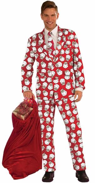 Studly Santa Suit Costume  - As Shown