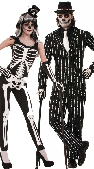 9209739c433 Bone Print Couples Costume