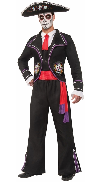 Men\'s Day Of The Dead Costume, Mens Dia De Los Muertos Costume
