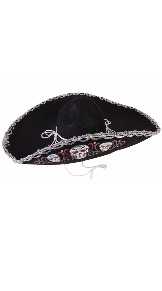 Day of the Dead Sombrero, Day of the Dead Halloween Costume, Day of the Dead Hat