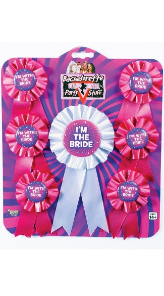 Bachelorette Party Ribbons - As Shown