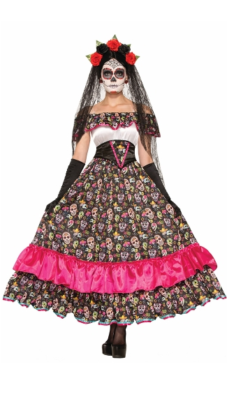 Spanish Lady Day Of Dead Costume Women S Day Of The Dead