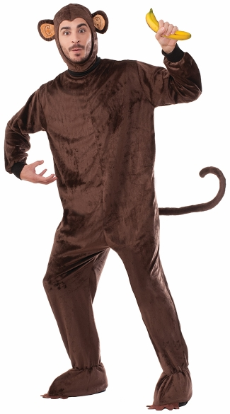 Men\'s Plush Monkey Costume, Men\'s Monkey Costume, Men\'s Animal Costume