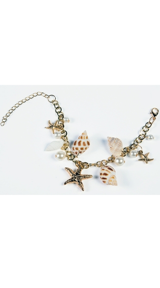 Mermaid Sea Shell Bracelet - As Shown