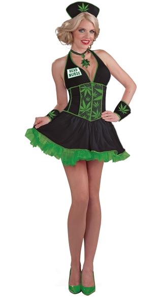 Leafy Head Nurse Costume - As Shown