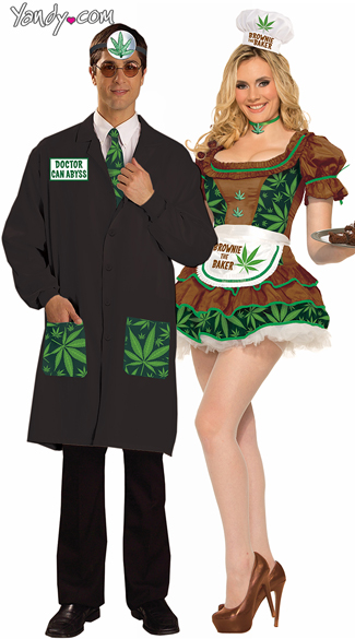 Green Leaf Couples Costume, Dr. Ken Abyss Costume, Weed Leaf Doctor Costume, Dr. Marijuana Halloween Costume, Cannabis Brownie Baker Costume, Marijuana Brownie Costume, Marijuana Halloween Costume