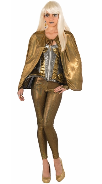 Molten Metal Golden Fantasy Costume - as shown
