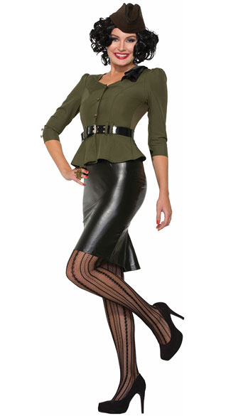 Missile Millie Costume, Sexy 40s Costume, Sexy Military Costume