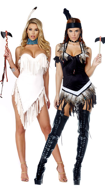Foxy Native American Duo Costume - as shown