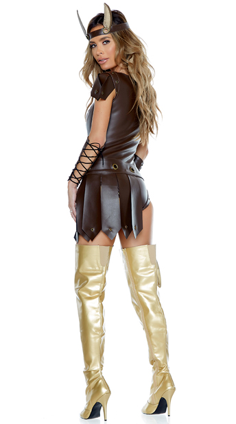 Victorious Viking Costume - Brown