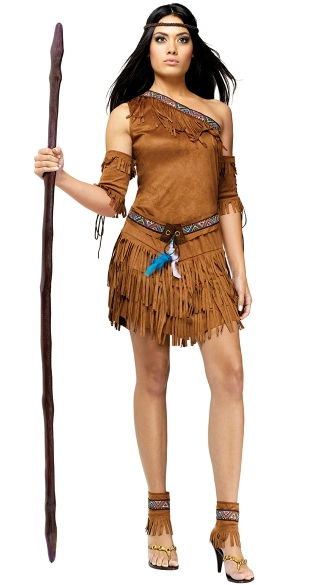 Pow Wow Adult Costume - As Shown