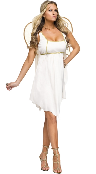 Golden Angel Costume, White Angel Costume, Adult Angel Halloween Costume