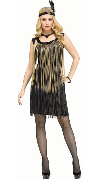 Flirty Flapper black and gold