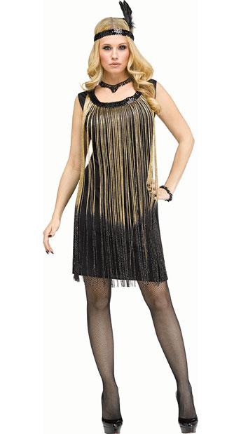Flirty Flapper black and gold
