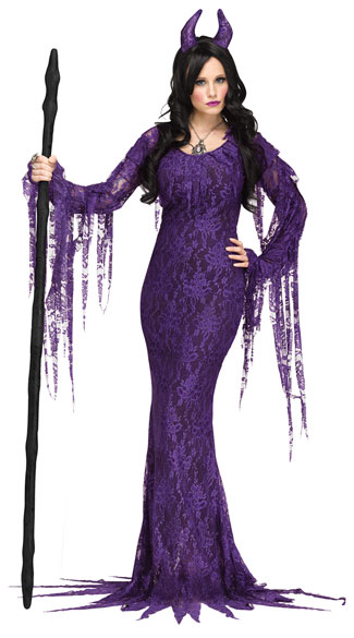 Evil Queen Diamond Costume, Sexy Devil Costume, Purple Devil Costume