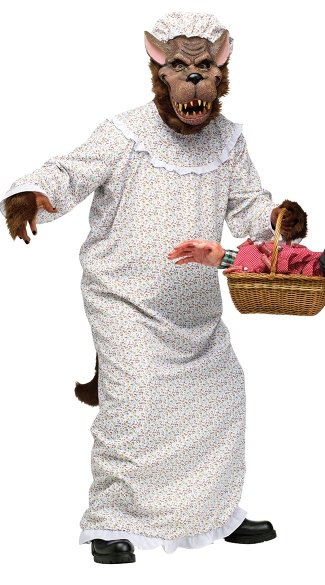 Big Bad Granny Wolf Costume - Grey