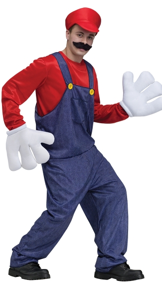 Men's Video Game Guy Costume - Red