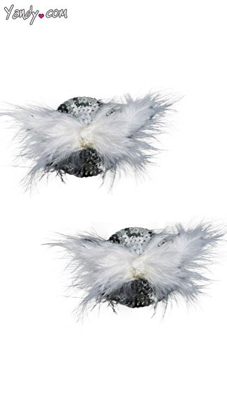 Feather Pasties Set, Feather and Sequin Pasties, Christmas Pasties