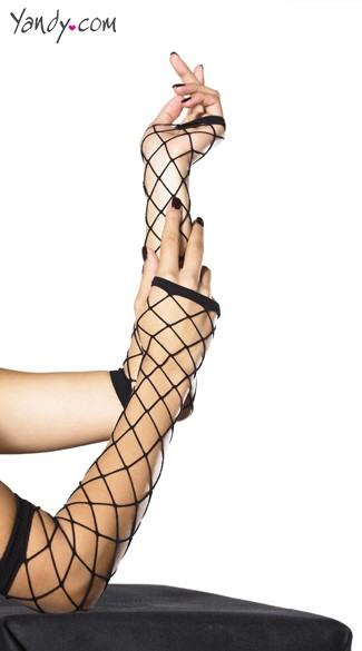 Fence Net Arm Warmers - Black