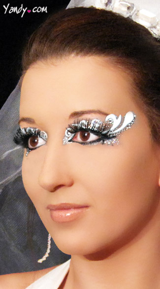 Forever Eye Kit, Bridal Eye Stickers, Bride Costume Make Up