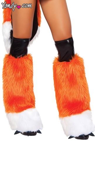 Foxxy Lady Legwarmers - Orange/Black/White