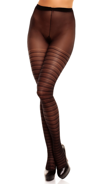 Plus Size Black Saturnia Pantyhose  - Black