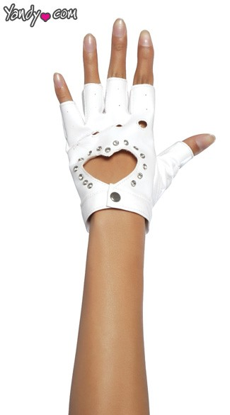 Glove W/cut - White