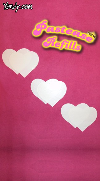 Heart Shaped Pastease Refill, Heart Pasties Refills