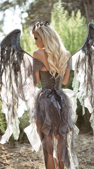 ... Deluxe Dark Angel Costume - Black