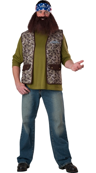 Duck Dynasty Willie Costume, Duck Dynasty Costume, AE Duck Dynasty Mens Costume