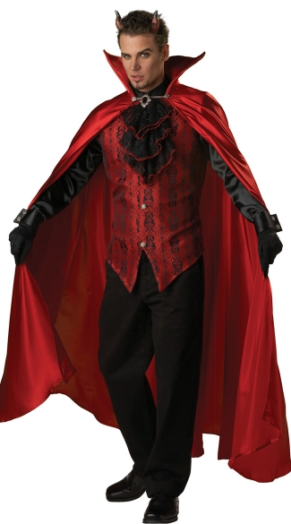 Deluxe Devil Costume - Red/Black