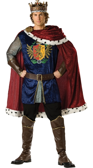 Deluxe Noble King Costume - As Shown