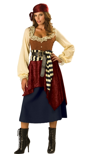 Buccaneer Beauty Costume, Sexy Pirate Costume, Sexy Buccaneer Costume, Pirate Wench Costume
