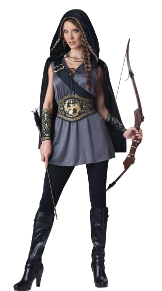 Woodland Huntress Costume, Archer Costume, Archery Costume, Sexy Hunter Costume