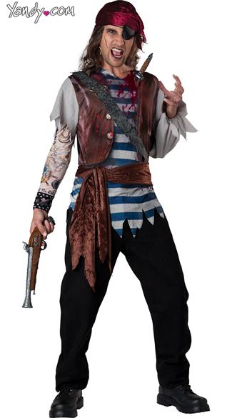 Men's Dead Man's Chest Pirate Costume - As Shown